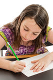 Girl drawing a picture Royalty Free Stock Photos