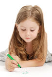 The girl draws Stock Images