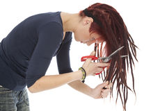 Girl with dreadlocks Stock Photos
