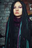Girl with dreadlocks Stock Images