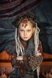 Girl with dreadlocks Royalty Free Stock Photo