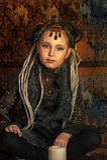 Girl with dreadlocks Royalty Free Stock Image