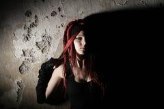 Girl with dreadlocks Stock Image