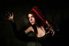 Girl with dreadlocks Stock Photos