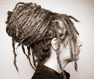 Girl with dreads Stock Images