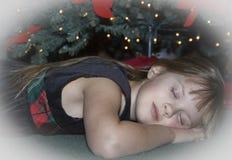 Girl dreaming stock image
