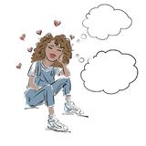 Love and youth stock illustration