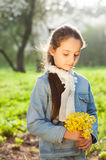 Girl, dreaming, waiting, love, friendship, smile, fashion, spring Royalty Free Stock Photo