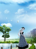 Girl in dreamland Royalty Free Stock Photo