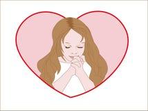 Girl dreams Valentines Stock Photos
