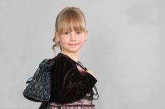 Girl in a dress Royalty Free Stock Photography