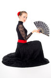 Girl in a dress Carmen Royalty Free Stock Photo
