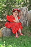 The girl in a dress of the dancer of a flamenco. Royalty Free Stock Photos