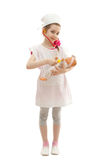 Girl in the dress of doctor royalty free stock photography