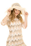 Girl dress hat with lace Stock Photography