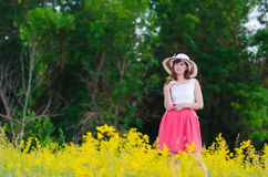 Girl in dress Stock Photo