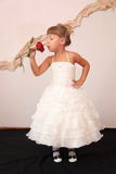 Girl in  dress Royalty Free Stock Photos