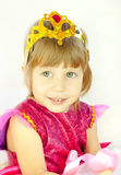 The girl in a dress of the princess Royalty Free Stock Photo
