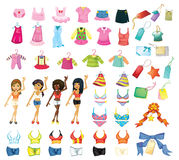 Girl dress set Royalty Free Stock Images
