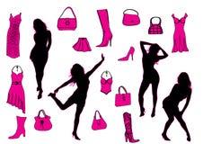 Girl, dress, shoe Stock Image