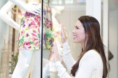 Girl Dress Shopping Stock Photo