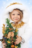 Girl in the dress of a Snow Maiden Royalty Free Stock Photos