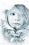 Girl in the dress of a Snow Maiden Stock Images