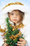 Girl in the dress of a Snow Maiden Stock Image