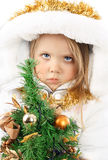 Girl in the dress of a Snow Maiden Stock Photography