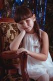 Girl in dress in vintage style Stock Image