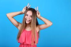 girl in dress stock image