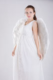 Girl dressed as an angel Royalty Free Stock Image