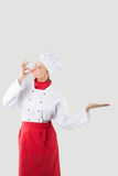 Girl dressed as a chef Stock Photos