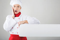 Girl dressed as chef Royalty Free Stock Image