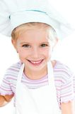 Girl dressed as a cook Stock Photo