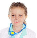 Girl dressed as a doctor Stock Image