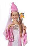 Girl dressed as fairy Stock Image