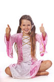 Girl dressed as fairy Royalty Free Stock Photography