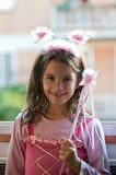 Girl dressed as a fairy Royalty Free Stock Image