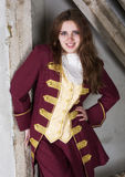 Girl dressed as a prince Royalty Free Stock Image