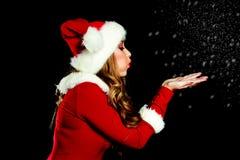 Girl dressed as Santa Royalty Free Stock Photo