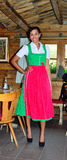 Girl dressed in clothes typical tyrolean Royalty Free Stock Images