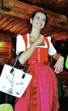 Girl dressed in clothes typical tyrolean Stock Photo