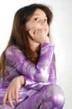Girl dressed disco Royalty Free Stock Image