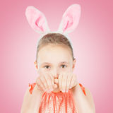 Girl dressed in Easter bunny ears Royalty Free Stock Image