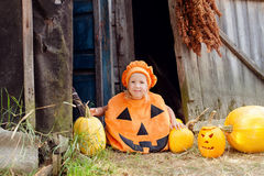 Girl dressed for Halloween. Little girl dressed for Halloween stock photos