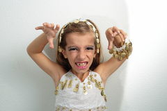 Girl dressed in holiday Stock Photography