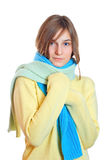 Girl Dressed In A Sweater Royalty Free Stock Image