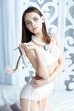 Girl dressed in  lingerie Stock Photo