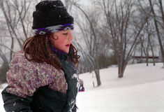 Girl dressed Winter, Ontario Canada Royalty Free Stock Images